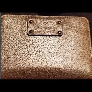 Kate Spade Rose Gold Wallet in Amazing Condition!